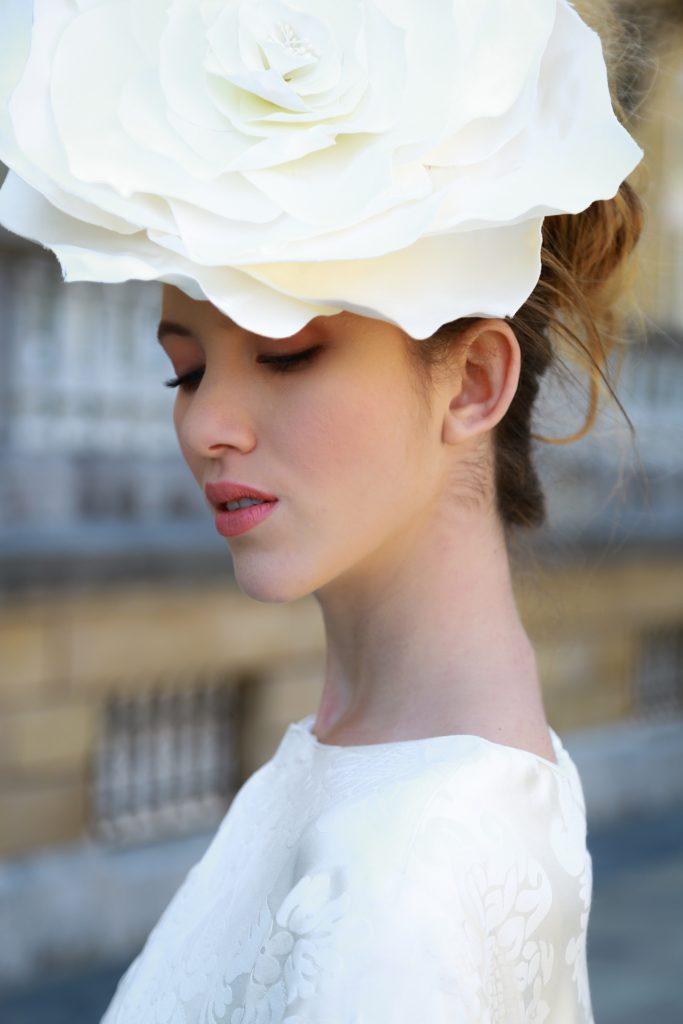 flor de novia en micado de seda