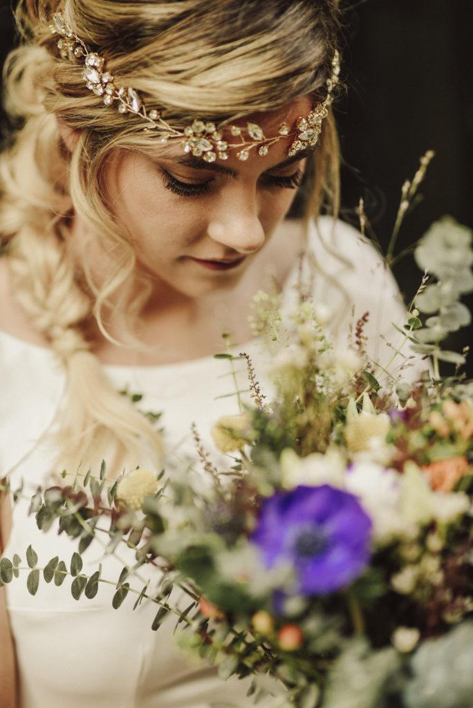 tocado de novia de pedrería