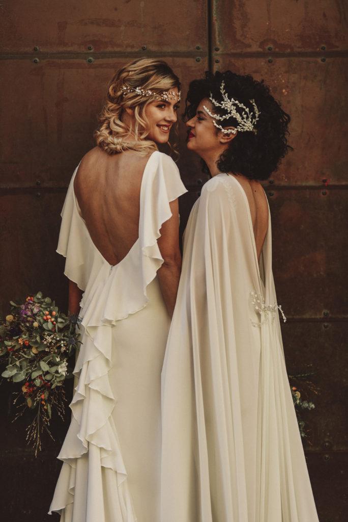 tocados de novia en pedreria y porcelana