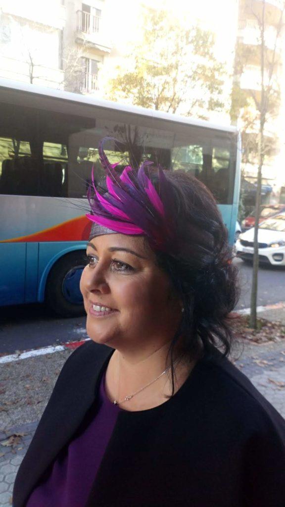 turbante de boda de tarde