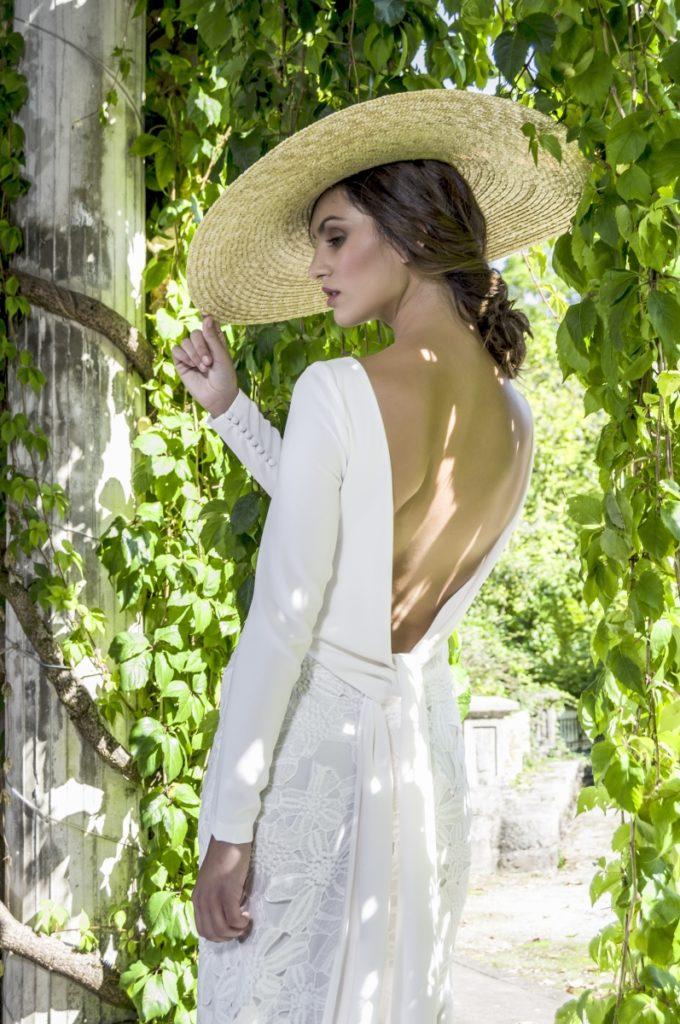 Pamela para novia de paja natural