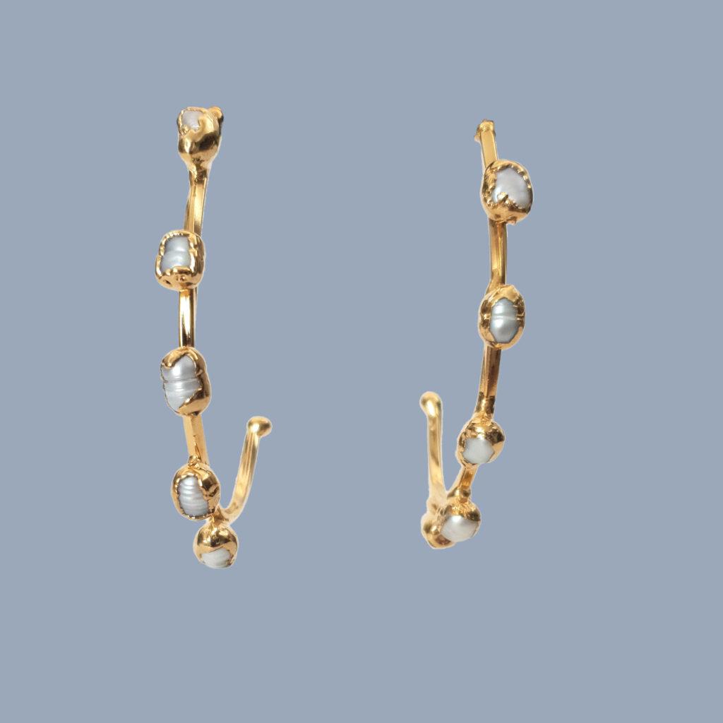 pendientes tocadosoh aros de perlas