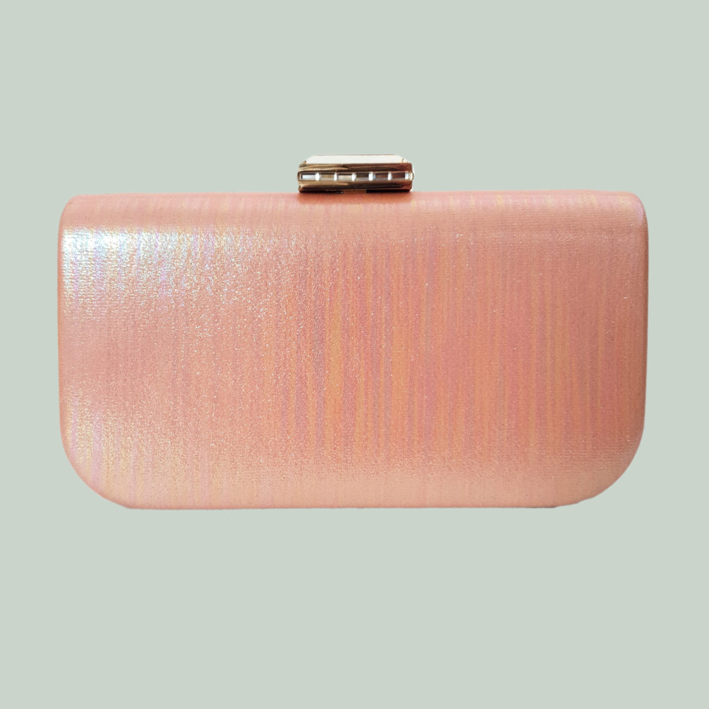 bolso de boda, clutch rosa brillante