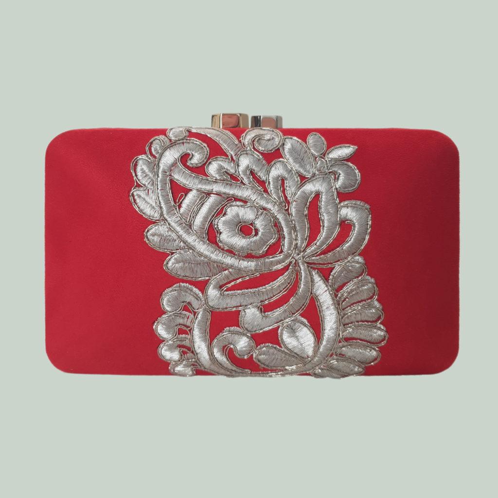 bolso de fiesta clutch de boda rojo