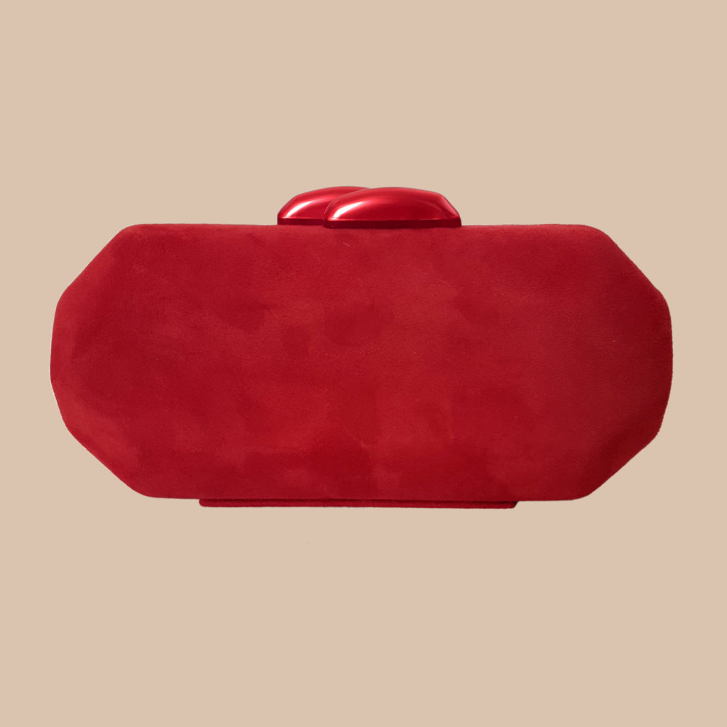 bolso de boda, clutch rojo