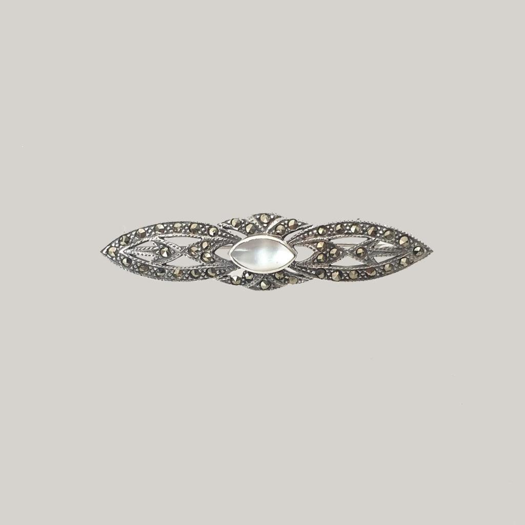 Tocadosoh broche de novia en plata
