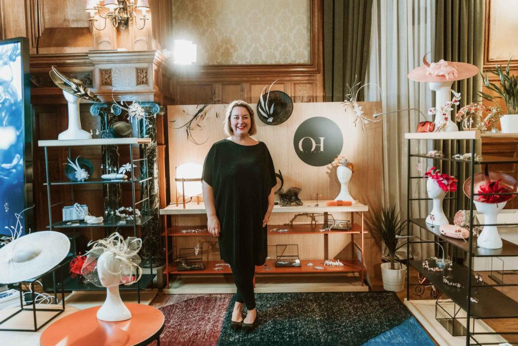Oihana Hernaiz , diseñadora de tocados oh